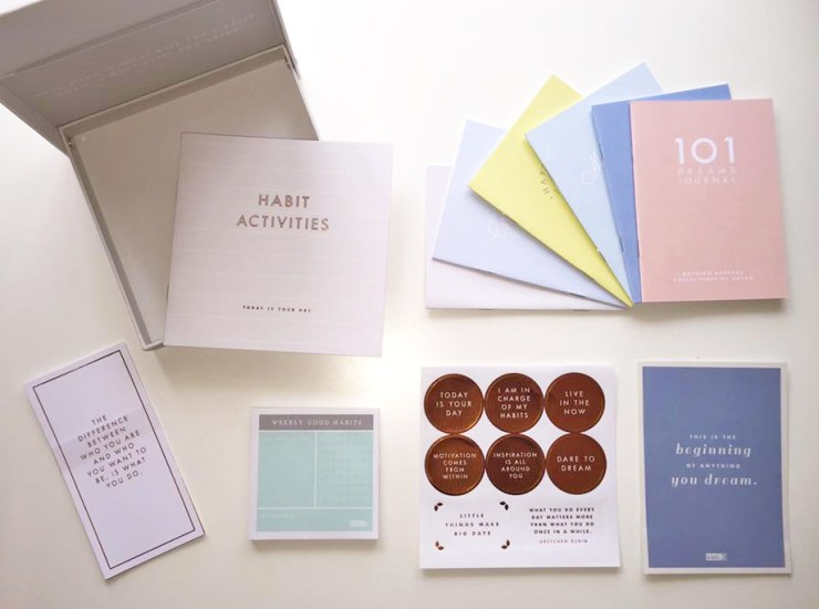 Habits Journal Notebooks Mindfulness Happy Healthy Kikki.K Box Review