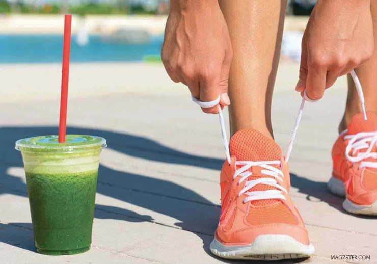 Health Fitness Green Juice Gym Gear Trainers