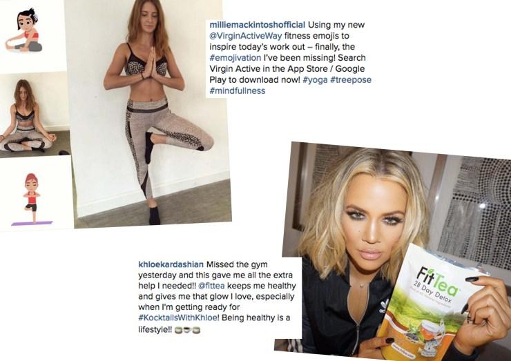 Health Fitness Millie Mackintosh Khloe Kardashian Gym Selfie