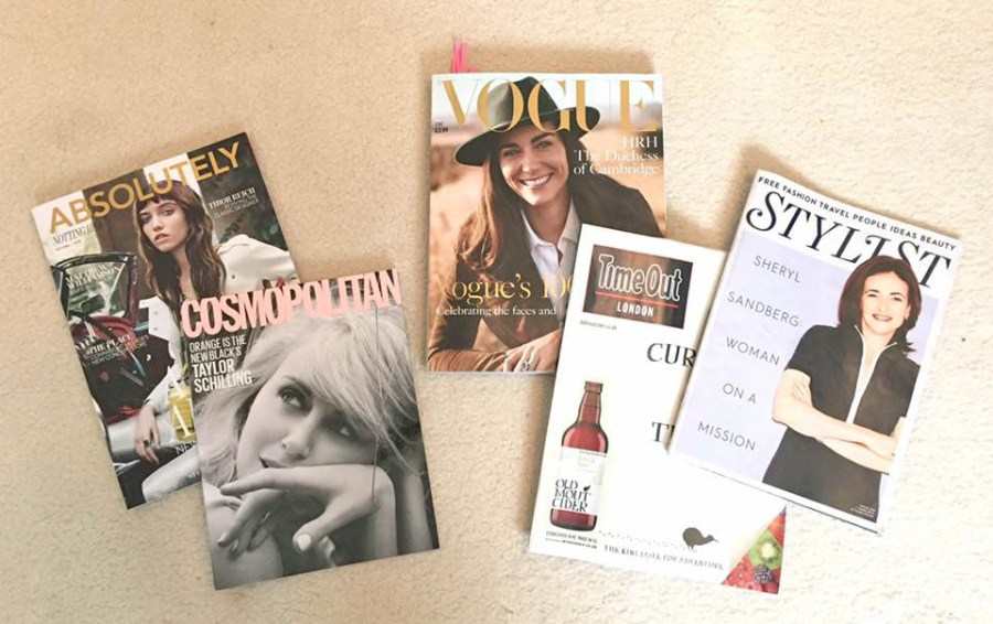 Blog Post Ideas Writing Magazines Vogue Cosmopolitan Time Out Stylist
