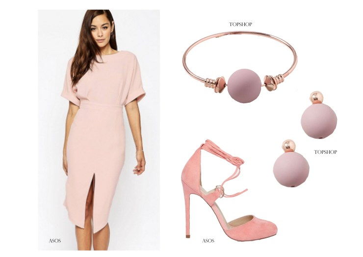 High Street Outfit Grid Shopping Wedding Guest Style ASOS Topshop