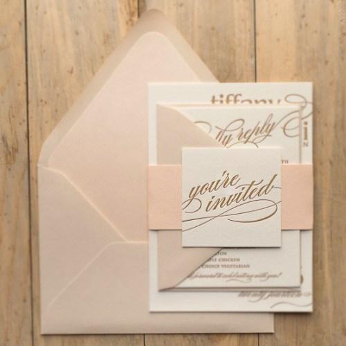 Wedding Guest Invitiation Envelope Invited Pink Floorboards Letter