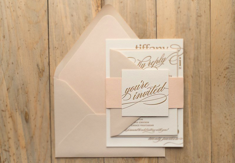 Wedding Guest Invitiation Envelope Invited Pink Floorboards Letter