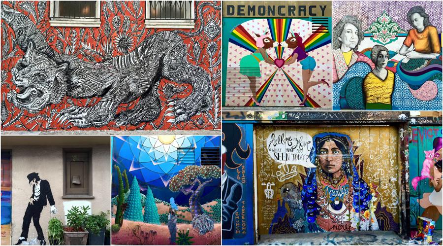 Mission District Street Art Graffiti San Francisco California Ocean, Road Trip USA America Travel
