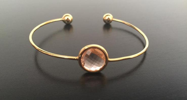 Zara Taylor Gem Stone Peach Bangle Bracelet Jewellery