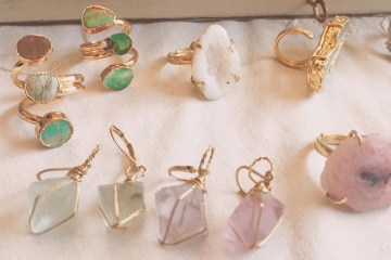Zara Taylor Jewellery Rings Pastel Gem Stones Colour Vintage