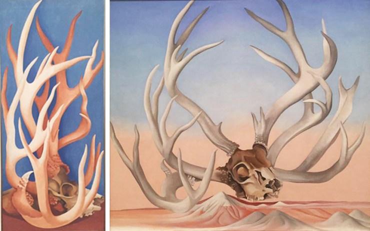 Georgia O'Keeffe Tate Modern Painting Deer Horns
