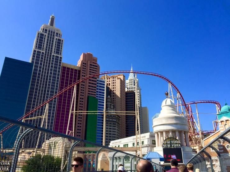 Las Vegas New York Roller Coaster Ride Travel America City Guide
