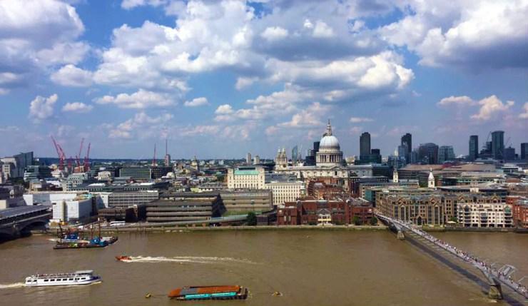 Tate Modern Building Level 10 London Skyline St Pauls