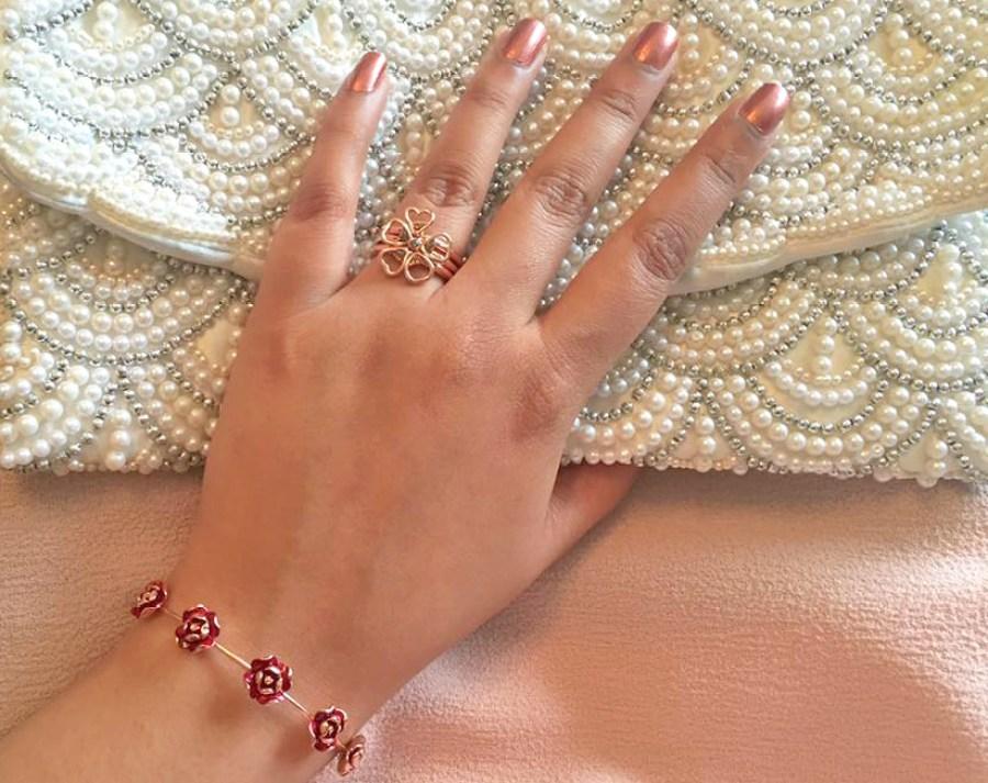 Ted Baker Rose Gold Jewellery Collection Bangle Bracelet Clutch Bag 2