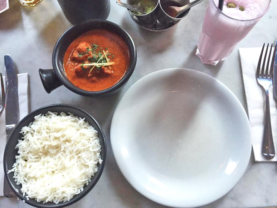 Dishoom Restaurant Chicken Ruby Red Rice Food London Covent Garden Indian Curry Lassi