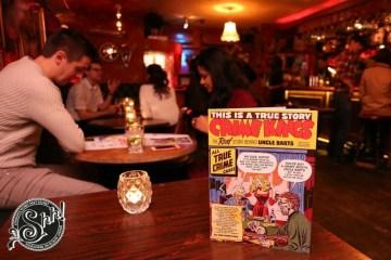 Bart's Comic Book Menu Launch Chelsea Bar