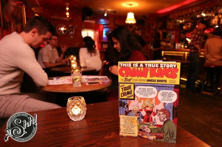 Bart's Comic Book Menu Launch Chelsea Bar