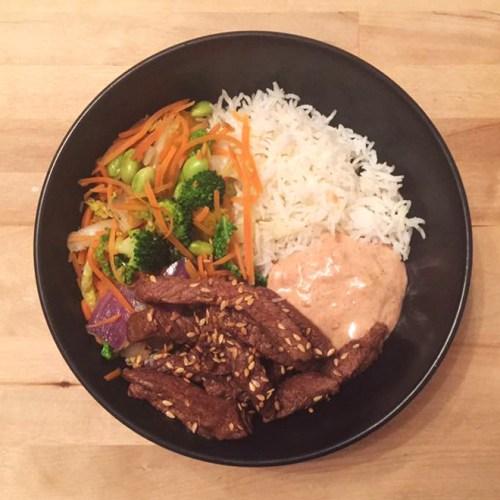 Korean Steak Rice Egg Bowl Yum Yum Sauce Recipe Food