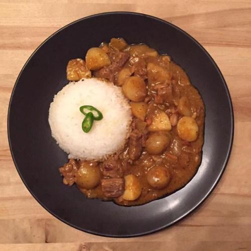 Creamy Beef Massaman Curry Recipe Food Dinner Lunch Thai Dish Rice Meat Potatoes