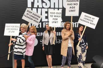 London Fashion Week 180 The Strand Protest Models Felstead