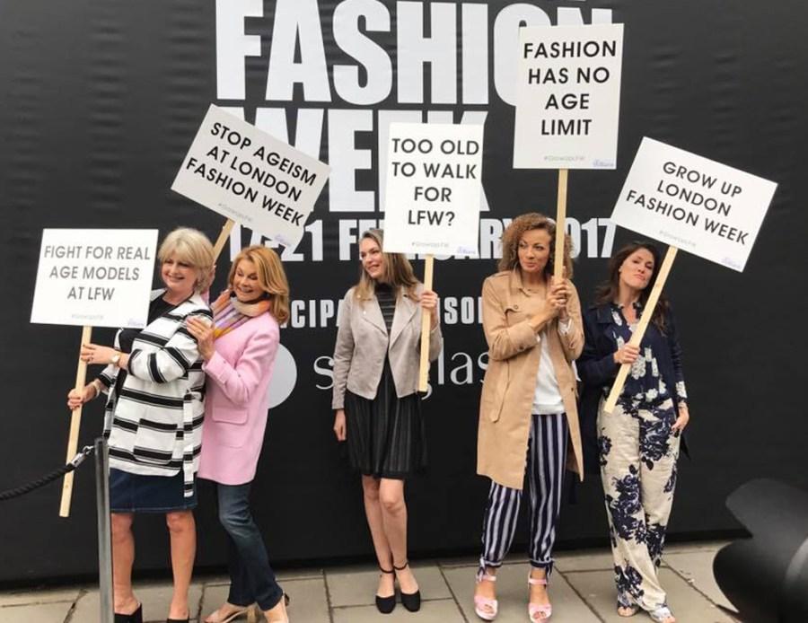 London Fashion Week 180 The Strand Protest Models Felstead