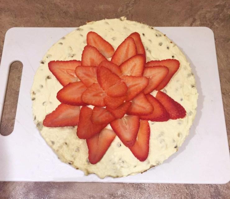 Passionfruit Strawberry Cheesecake Dessert Recipe Baking