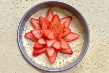 Passionfruit Strawberry Cheesecake Dessert Recipe