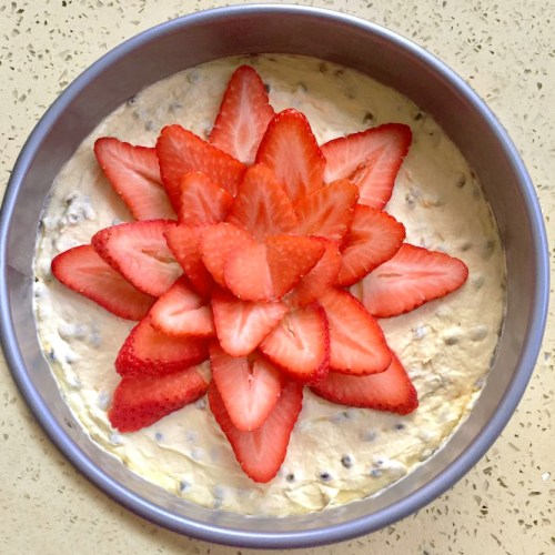 Passionfruit Strawberry Cheesecake Dessert Recipe