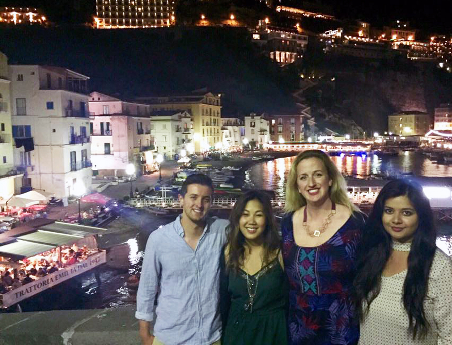 Italy Amalfi Coast Sea Mediterranean Beach Night View City Holiday Travel