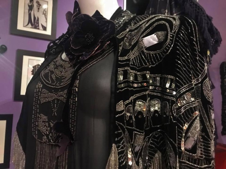 Anna Sui Fashion Textiles Museum Black Beaded Jacket