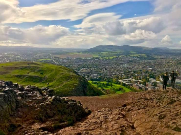 Edinburgh Arthur's Seat View Itinerary Scotland Travel Guide Hike