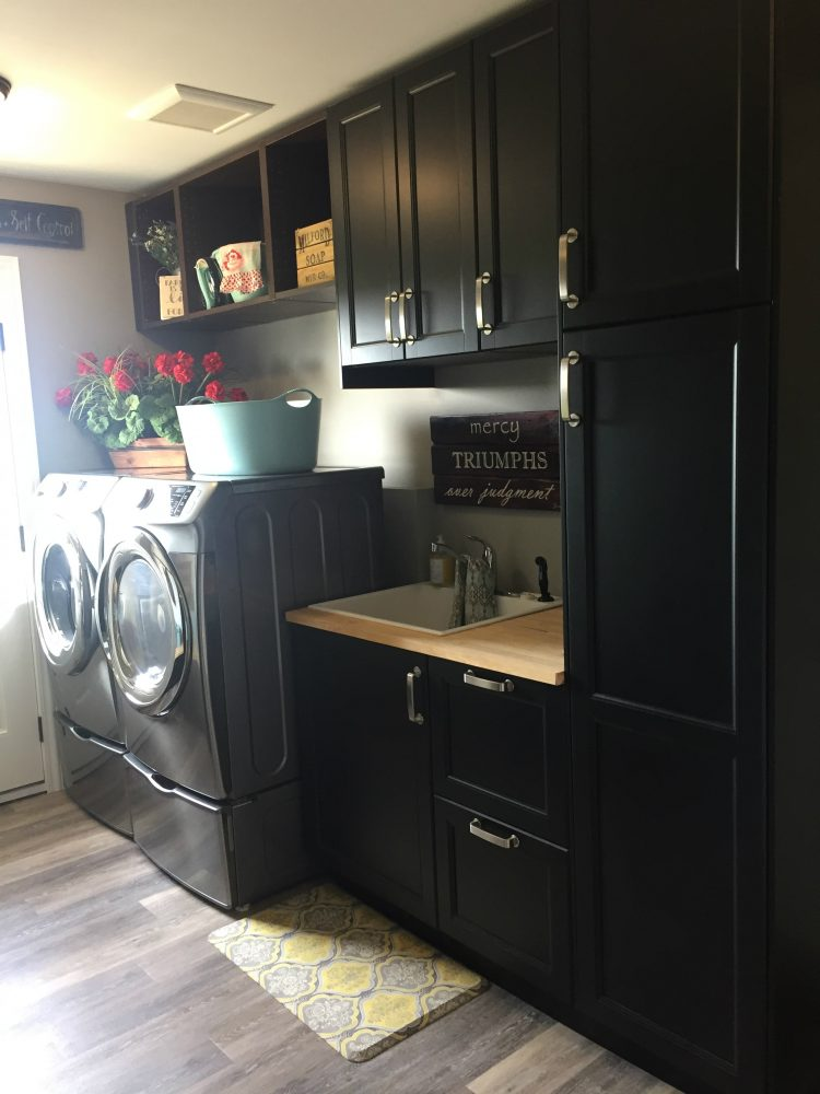 How to Design a Laundry Room and Bathroom with IKEA ... on Laundry Cabinets  id=22893