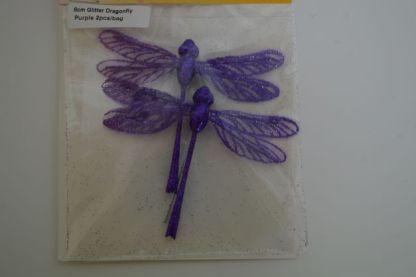 Purple glitter dragonflies