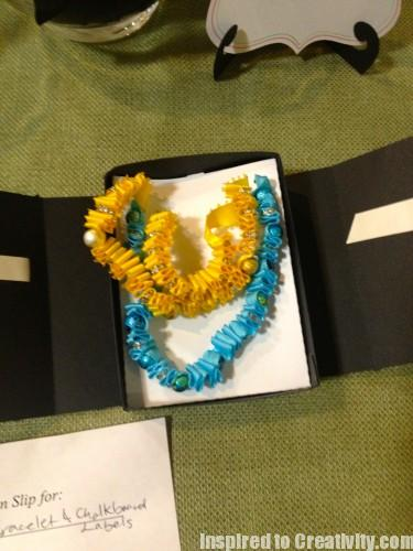 Yellow & Turquoise Beaded Ribbon Necklaces