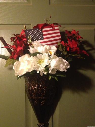 4th of July Hanging Door Urn Decoration
