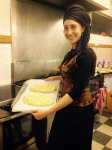 Rachel Showing Off Homemade Bread