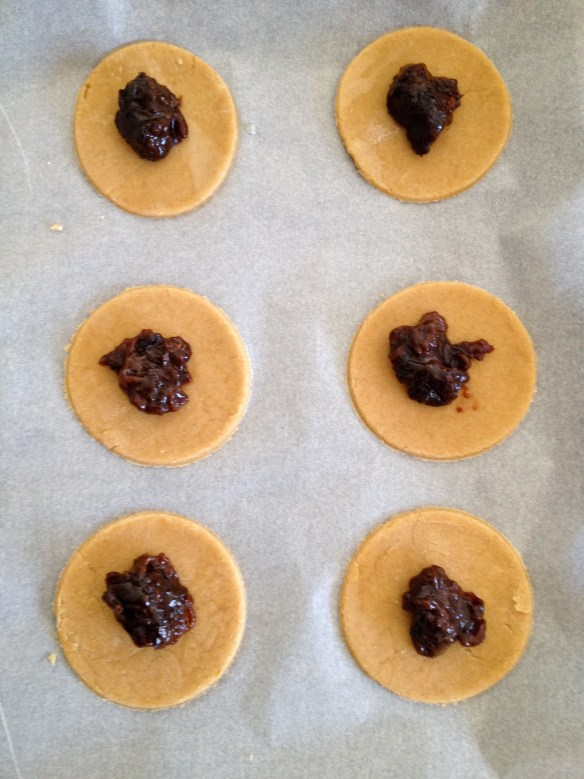 Hamantaschen with filling