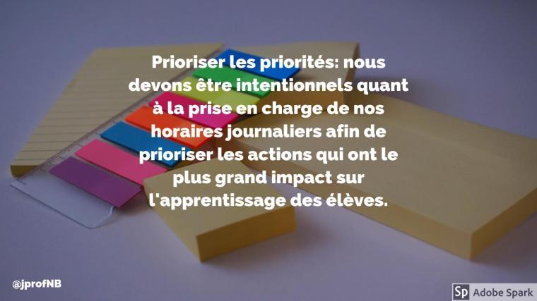 Prioriser les priorités