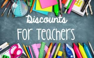 Discounts for Teachers!