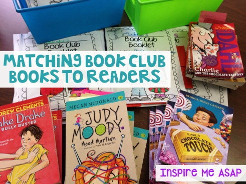 When implementing book clubs with your readers, keep two key components in mind: student choice and just-right book selection. In this third of eight post blog series on book clubs, you will learn how to match books to readers.