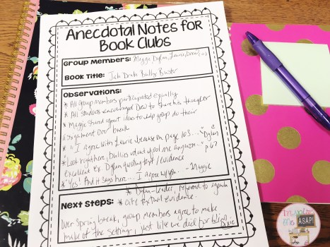 Are you looking to implement book clubs into your primary classroom? This blog posts has an abundance of pictures and information about how to use teacher AND student assessments with your book club groups.