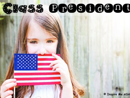 Looking to hold your own class election? This blog post includes a free resource for you to download and use with your students as you vote for a class president!