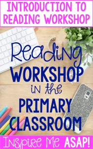 Are you looking to implement reading workshop in your primary classroom, but need to learn more about what it is? This blog post explains the structure of reading workshop in this first of eight post series.