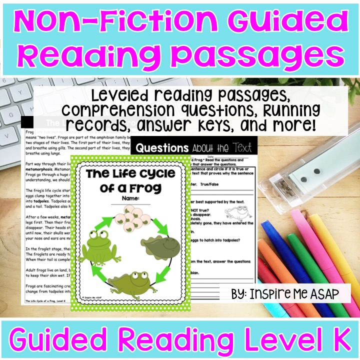 Level K (Non-Fiction) Guided Reading Passages - Inspire Me ASAP