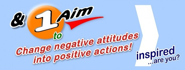 to change negative attitudes into positive action