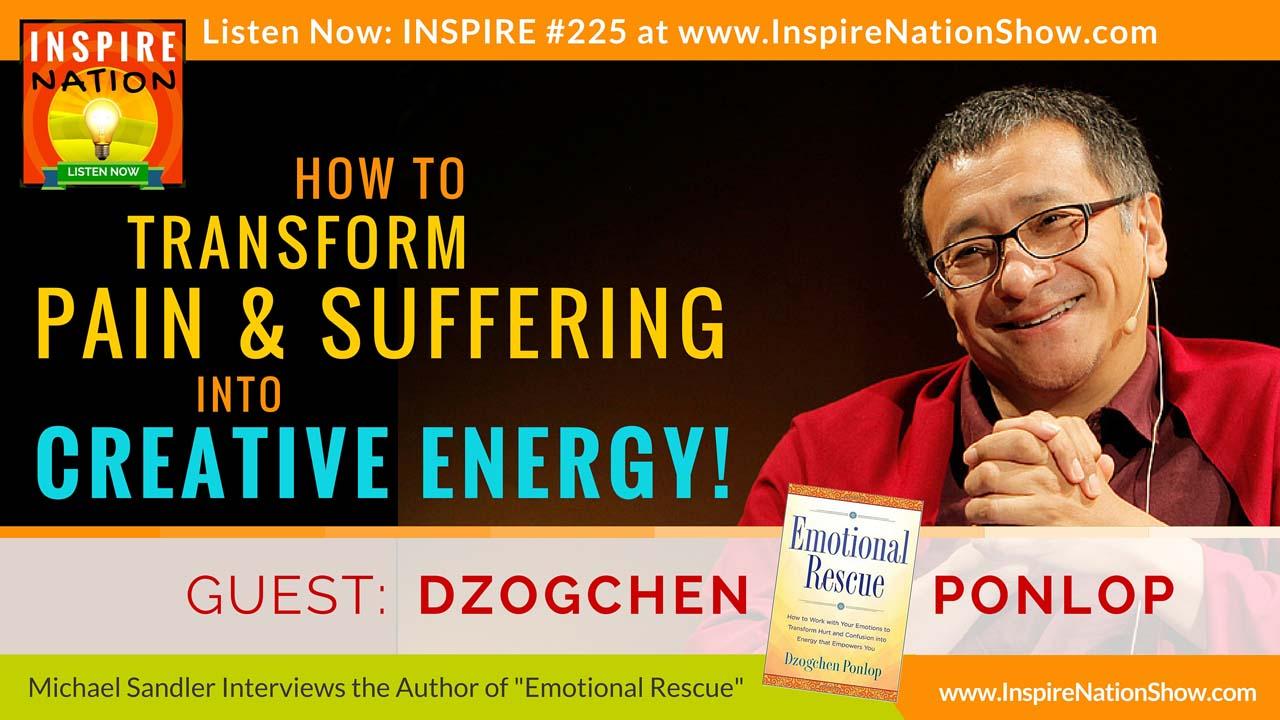 Listen to Michael Sandler's interview with Dzogchen Ponlop Rinpoche on Emotional Rescue!
