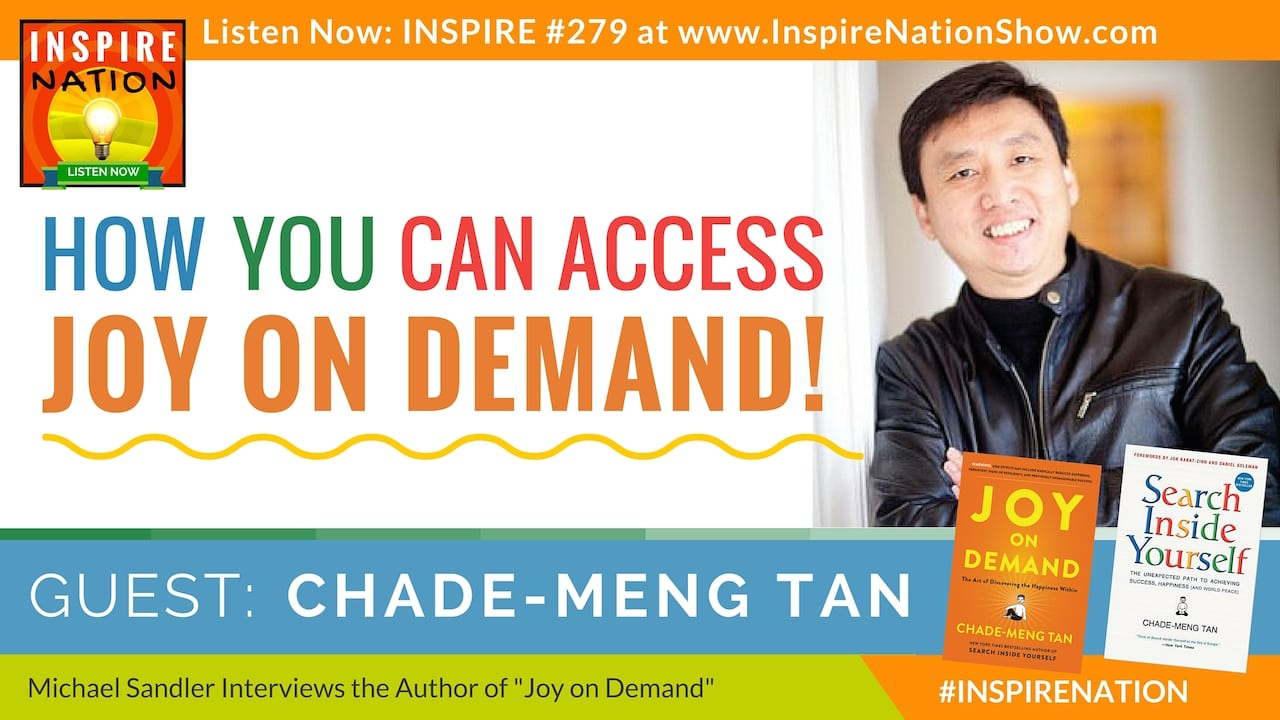 Listen to Michael Sandler's interview with Chade-Meng Tan on accessing Joy on Demand!