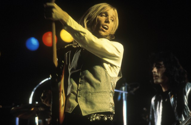 Young Tom Petty on stage