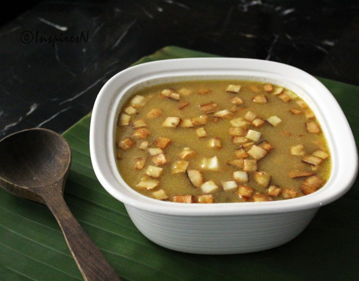 Parippu payasam or moong dal payasam
