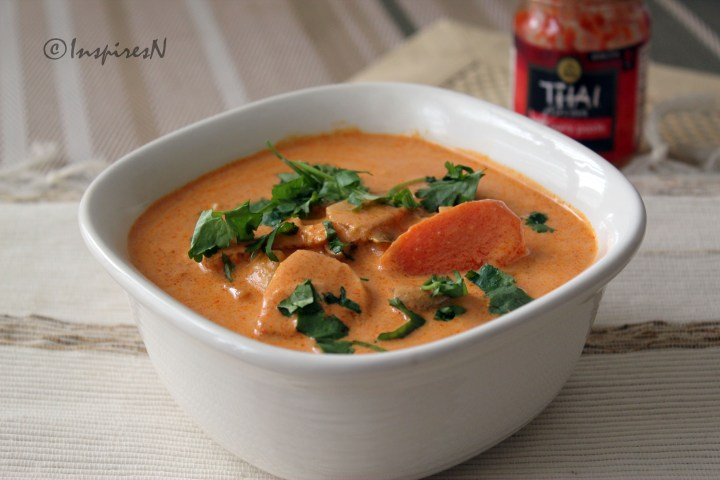 Thai Red curry chicken with readymade paste