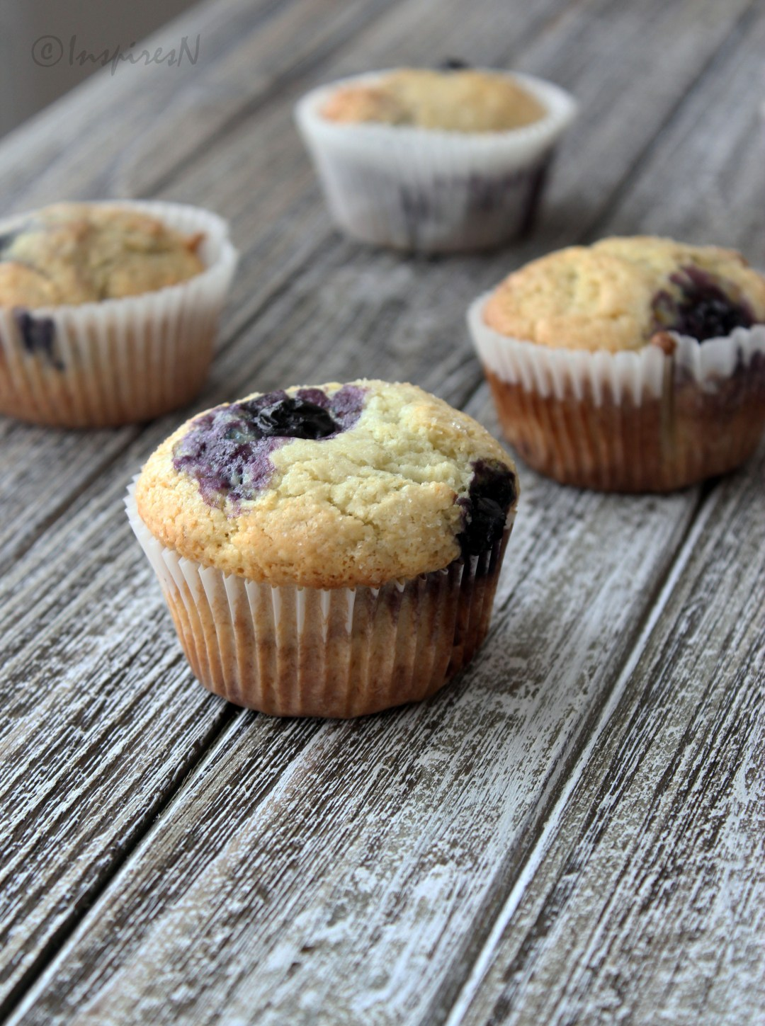 Quick Easy Blueberry muffins