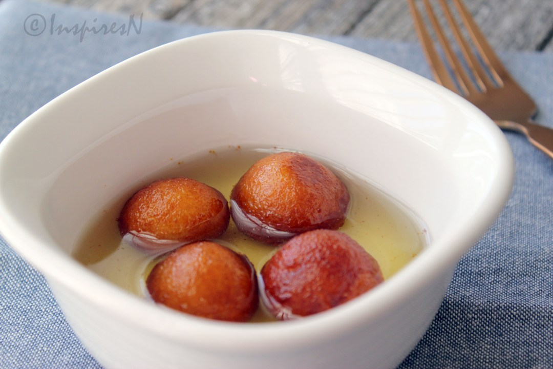 Gulab Jamun Immersed in sugar syrup