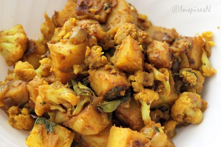 cauliflower potato sabji