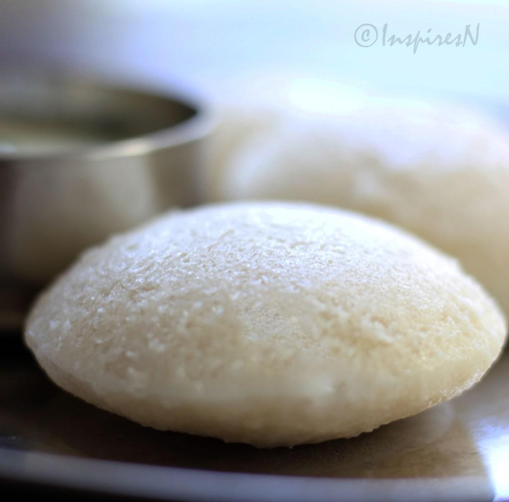 Idli steamed rice and lentil cake